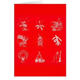 挨拶のカード休日の芸術クリスマス119 ノートカード