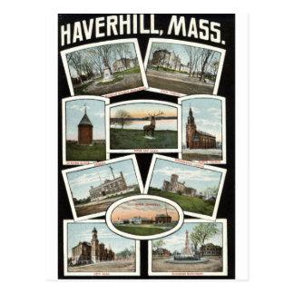 挨拶のHaverhillマサチューセッツの1910年のヴィンテージ ポストカード