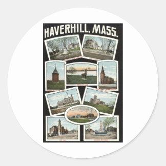 挨拶のHaverhillマサチューセッツの1910年のヴィンテージ ラウンドシール