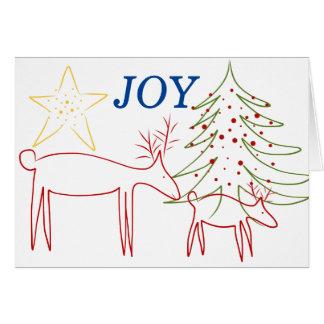挨拶状のクリスマスのトナカイの喜び カード
