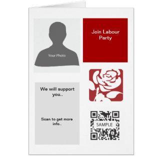 挨拶状のテンプレートの労働党 カード