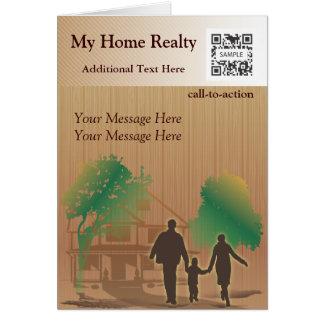 挨拶状のテンプレート私の家の不動産 カード