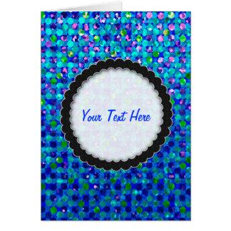 挨拶状の水玉模様のSparkleyの宝石 カード