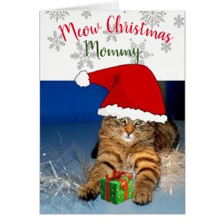 挨拶状の/Meowのクリスマスの中のクリスマス猫 カード