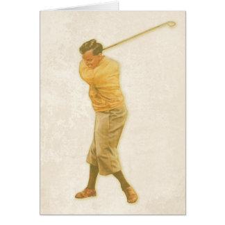 挨拶状のwithVintageのゴルフプレーヤー カード