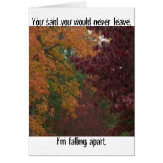 挨拶状離れて落下 グリーティングカード