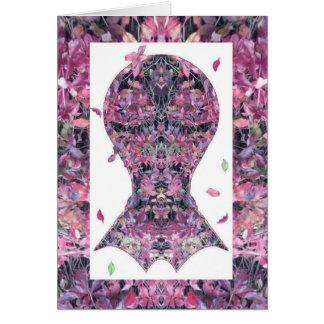 挨拶状-キヅタのフラクタルの写真の芸術の頭部2 カード