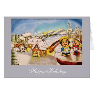 挨拶状: クリスマスキャロル カード