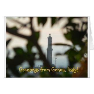 挨拶状-ジェノア-イタリア カード