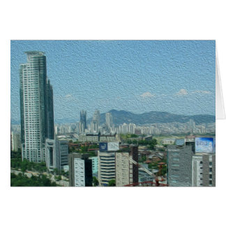 挨拶状-ソウル、南朝鮮 カード