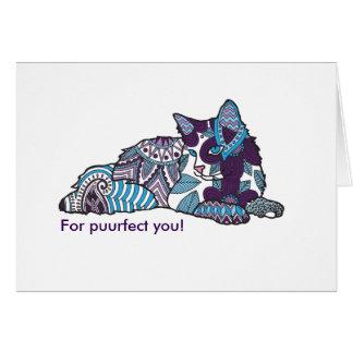挨拶状、ボヘミア猫 カード