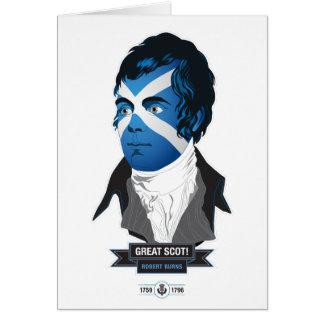 挨拶状。 ロバート・バーンズの素晴らしいスコット! カード