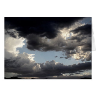 挨拶状-暗い雲の写真 グリーティングカード