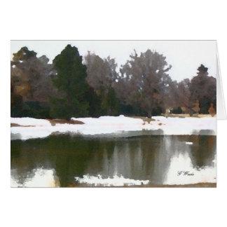 挨拶状、湖の反射-すべての行事 カード