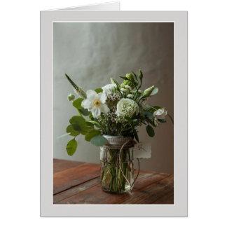 挨拶状-瓶の花束 カード