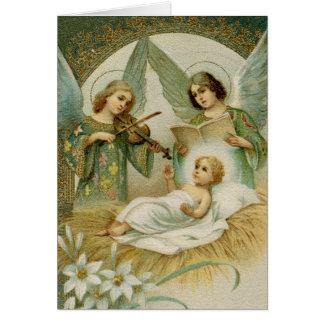 挨拶状(聖なる書物、経典): ルークの2:14グロリア カード