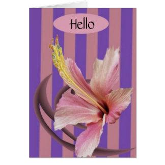 挨拶、こんにちは カード