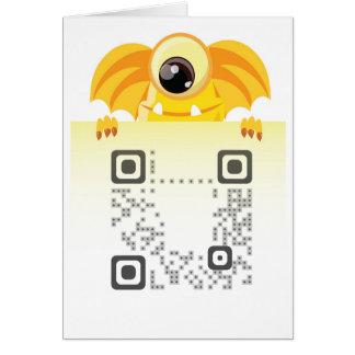 """挨拶QRコードカード5"""" x7""""垂直 カード"""