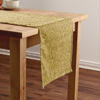 振りかけられた金ゴールドのきらめき ロングテーブルランナー
