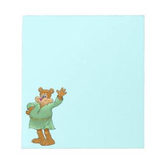振るくまの漫画の絵 ノートパッド