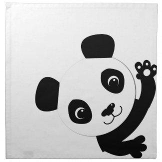 振るパンダ ナプキンクロス