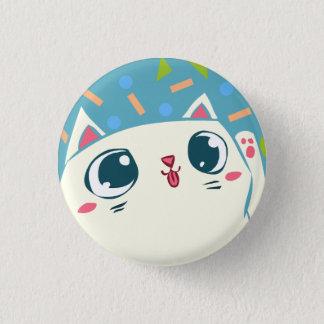 振る幸運な猫ボタン 3.2CM 丸型バッジ