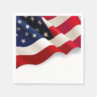 振る米国の旗の愛国心が強いパーティのナプキン スタンダードカクテルナプキン