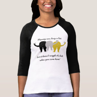 振れのお尻ペット Tシャツ