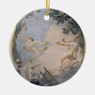 振動のPulcinella、1797年(フレスコ画) セラミックオーナメント