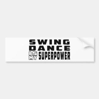 振動ダンスは私の超出力です バンパーステッカー