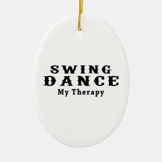 振動ダンス私のセラピー セラミックオーナメント