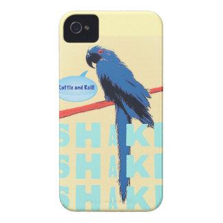 振動ラッセル音およびロールコンゴウインコ Case-Mate iPhone 4 ケース