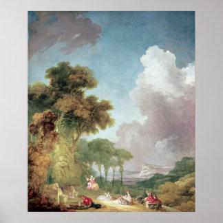 振動、c.1765 ポスター