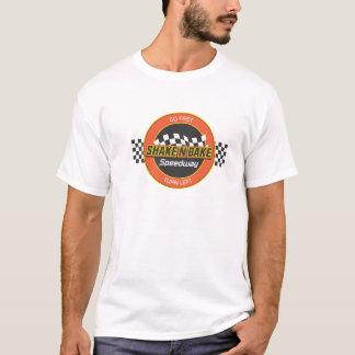 振動nは高速自動車道路のロゴを焼きます tシャツ