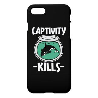 捕われの身の殺害は、シャチのクジラの電話箱を放します iPhone 8/7 ケース