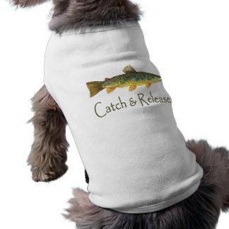 捕獲物および解放の魚釣り ペット服