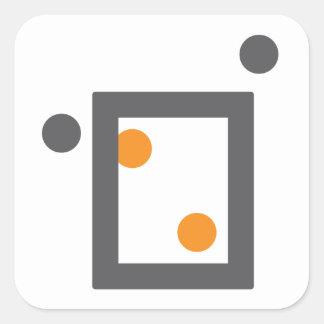 捕獲物のステッカー-正方形 スクエアシール