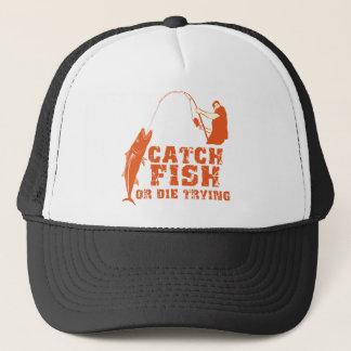捕獲物の魚はまたは試みることを死にます キャップ