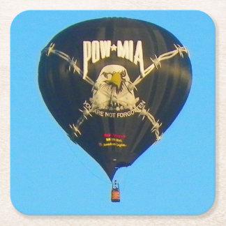 捕虜MIAの熱気の気球 スクエアペーパーコースター