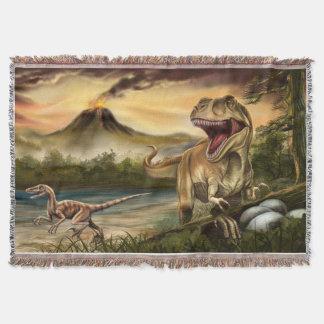 捕食動物の恐竜によって編まれるブランケット スローブランケット