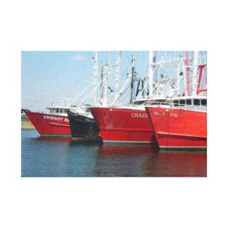捕鯨都市漁船隊のキャンバスプリントの芸術 キャンバスプリント