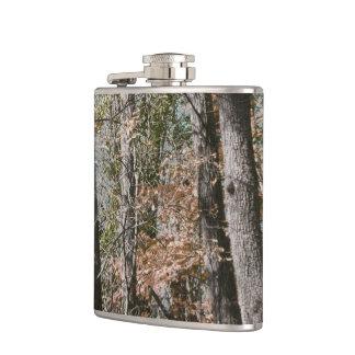 捜すか、または採取する森林木の迷彩柄のカムフラージュの自然 フラスク