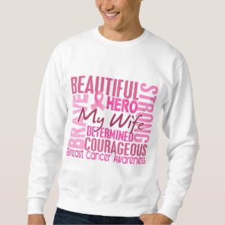 捧げ物の正方形の妻の乳癌 スウェットシャツ