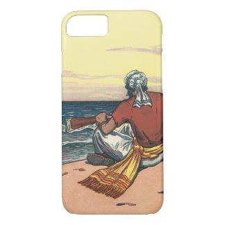 捨てられた島で置き去りにされるヴィンテージの海賊 iPhone 8/7ケース
