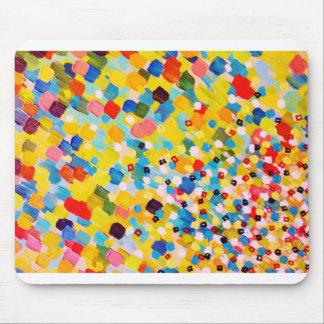 掃除された遠くにな2 -鮮やかでカラフルな虹のマンゴの芸術 マウスパッド