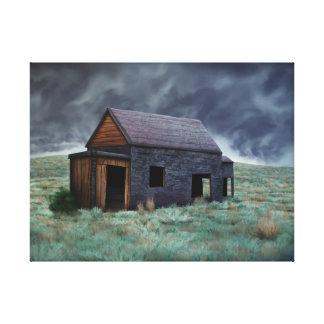 掘っ建て小屋|-|包まれた|キャンバス|プリント 張りキャンバスプリント