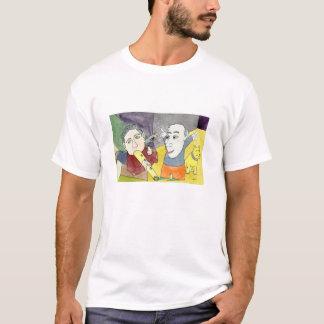掘り出し上手の白のTシャツの夜明け Tシャツ