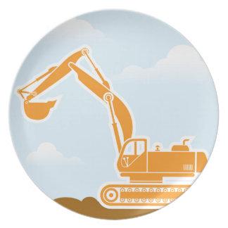 掘削機のベクトル プレート