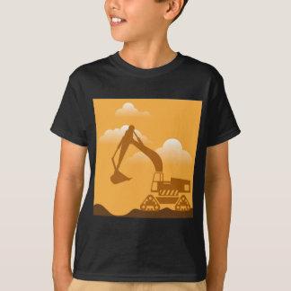 掘削機 Tシャツ