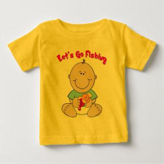 採取することを行こう(男の子) ベビーTシャツ